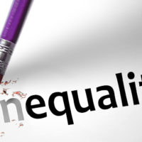 Eraser changing the word inequality to equality