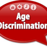 Age discrimination speech bubble