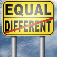 Equal:different sign