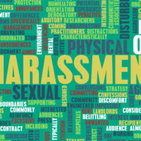 Image that reads harassment