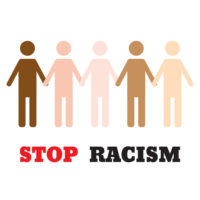 Sign that reads race discrimination case