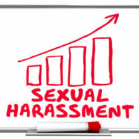 graph that reads sexual harassment