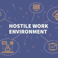 hostile work environment symbols illustration