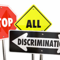 stop all discriminations displayed as traffic signs