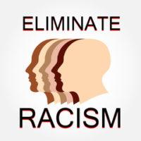 Faces that read eliminate racism