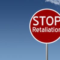 Red retaliation sign
