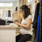 pregnant employee at work