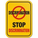 yellow discrimination sign