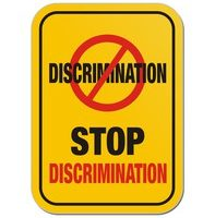 yellow discrimination sign