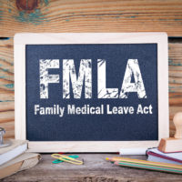 FMLA chalkboard sign