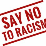 say no to racism red stamp