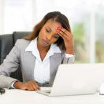 female employee sad