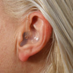 Deaf lady with hearing problem