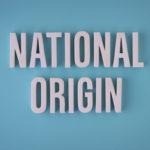 National origin sign lettering
