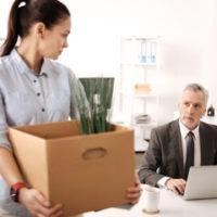 Boss fires a female employee
