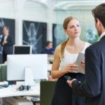 male boss talks down to female employee
