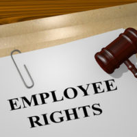 gavel with Employee rights