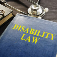 Book that read disability law on the front cover