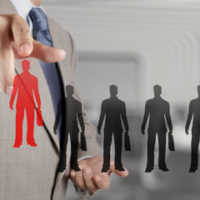 Analogous to discrimination as man picks red, targetted man