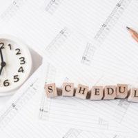 Blocks that read schedule in regards to part-time work