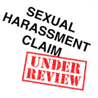 Sexual Harassment Claim under review stamped