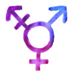 Transgender sign in purple-blue Watercolor