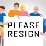 Resign Sign People Quit Or Resignation From Job Government Or President