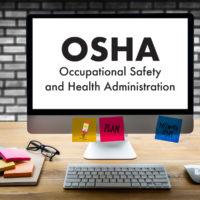 'OSHA' displayed on desktop screen