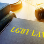 Book with title LGBT Law and gavel