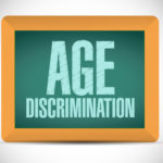 age discrimination board sign illustration