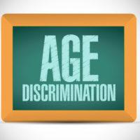 age discrimination board sign illustration