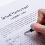 sexual harassment form being filled out
