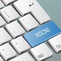 rescind written on the keyboard button