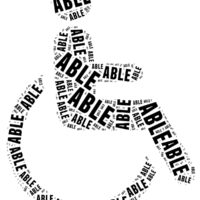 Tag or word cloud disability related