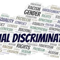 Racial Discrimination - type of discrimination - word cloud.