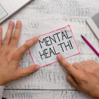 Conceptual hand writing showing Mental Health. Business photo showcasing demonstratings condition regard to their psychological well being.
