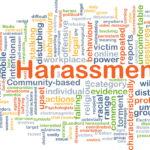 Harassment background concept