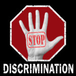 Stop discrimination conceptual illustration. Global social problem