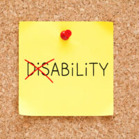 Ability Not Disability Sticky Note Concept