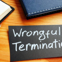Conceptual photo showing printed text Wrongful termination