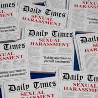 Sexual Harassment Awareness #metoo Newspaper Headlines 3d Illustration
