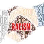 Stop racism symbol illustration