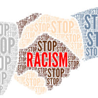 Stop racism symbol illustration