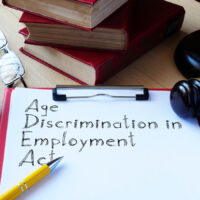Age Discrimination in Employment Act ADEA is shown on the conceptual business photo