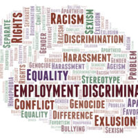 Employment Discrimination - type of discrimination - word cloud.