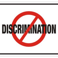 anti discrimination rectangle sign