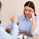 Boss Shouting At Girl Threatening To Be Fired At Workplace