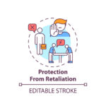 Protection from retaliation concept icon