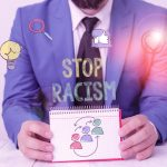 Word writing text Stop Racism. Business concept for end the antagonism directed against someone of a different race.