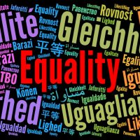 Equality word cloud in different languages